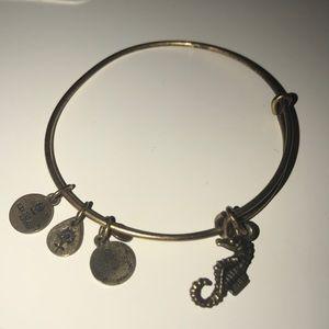 Alex & Ani seahorse gold bracelet.